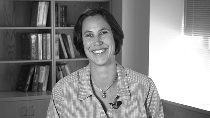 Headshot of Sabine Petry, a speaker in a course on iBiology Courses